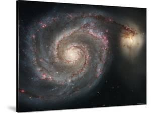 The Whirlpool Galaxy (M51) and Companion Galaxy by Stocktrek Images