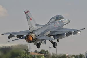 Turkish Air Force F-16 Taking Off During Exercise Anatolian Eagle by Stocktrek Images