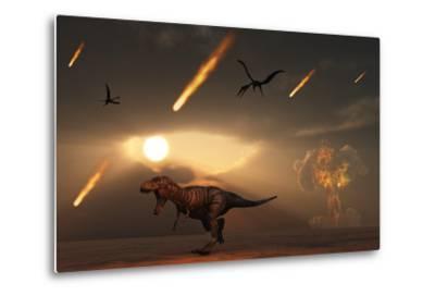 Tyrannosaurus Rex Tries to Escape a Giant Asteroid Impact