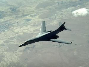 U.S. Air Force B-1B Lancer on a Combat Patrol over Afghanistan by Stocktrek Images