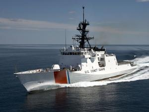 U.S. Coast Guard Cutter Waesche in the Navigates the Gulf of Mexico by Stocktrek Images