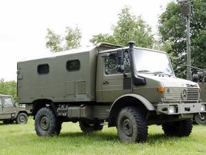 Unimog Truck of the Belgian Army by Stocktrek Images