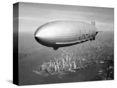 Uss Macon Airship Flying over New York City