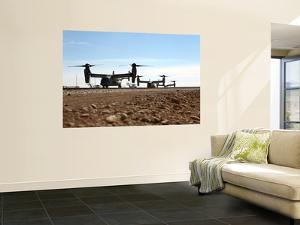 V-22 Osprey Tiltrotor Aircraft Arrive at Camp Bastion, Afghanistan by Stocktrek Images