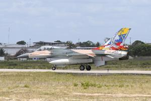 Venezuelan Air Force F-16 Taxiing at Natal Air Force Base, Brazil by Stocktrek Images
