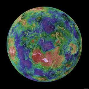Venus Centered on the North Pole by Stocktrek Images
