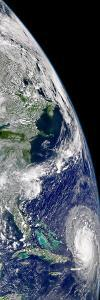 View of Hurricane Frances On a Partial View of Earth by Stocktrek Images