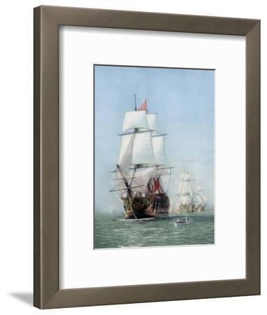 Vintage Print of Hms Victory of the Royal Navy