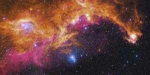 Visible Light-Infrared Composite of Ic 2177, the Seagull Nebula by Stocktrek Images