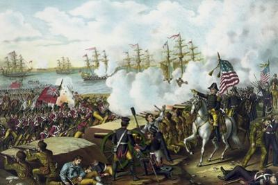 War of 1812 Print at the Battle of New Orleans by Stocktrek Images