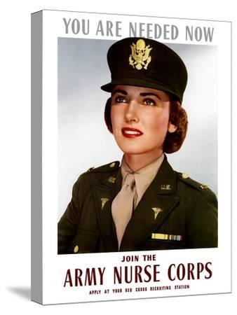 World War II Poster of a Smiling Female Officer of the U.S. Army Medical Corps
