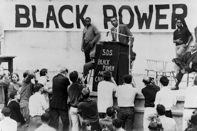Stokely Carmichael Speaking at the University of California at Berkeley, Ca. 1965-67--Photo