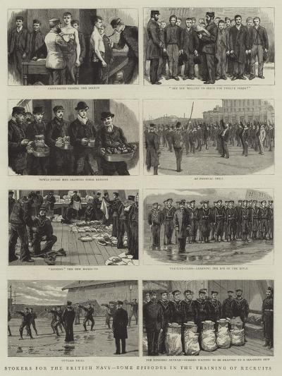 Stokers for the British Navy, Some Episodes in the Training of Recruits--Giclee Print