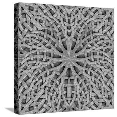 Stone Arabesque in Gray Tones--Stretched Canvas Print