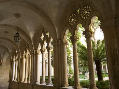 Stone arches and columns at entrance to Rector's Palace, Dubrovnik, Dalmatia, Croatia-John & Lisa Merrill-Photographic Print