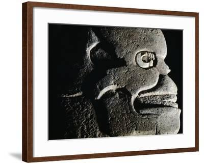 Stone Axe Inlaid with Shell, Peperto Originating from Copan--Framed Giclee Print