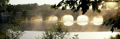Stone Bridge in Fog, Loire Valley, France--Photographic Print