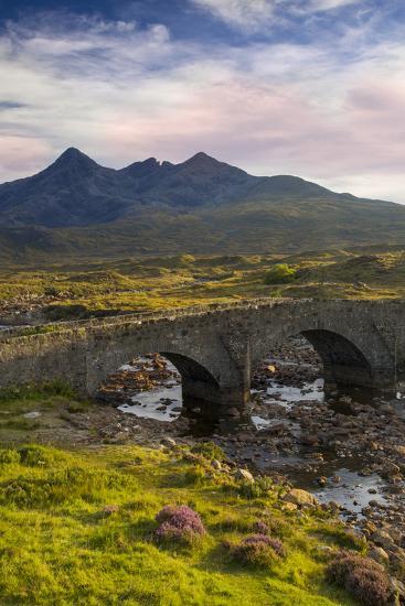 Stone Bridge over River Slichagan, Slichagan, Isle of Skye, Scotland-Brian Jannsen-Photographic Print