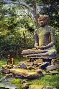 Stone Buddha, a Relic of the Past Glory of Anuradhapura, Ceylon, C1924