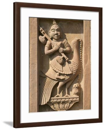Stone Carving in Hotel Prithvi Vilas Palace, Jhalawar, Rajasthan, India-Keren Su-Framed Photographic Print