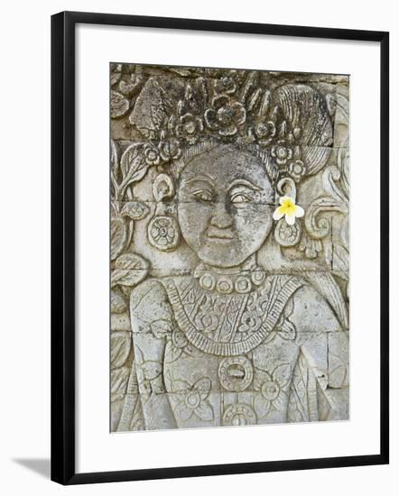 Stone Carving, Temple of Pura Dalem Jagaraga, North Coast, Bali, Indonesia, Southeast Asia, Asia--Framed Photographic Print