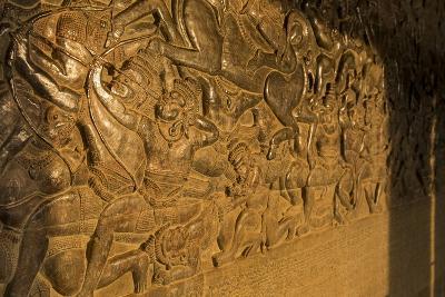 Stone Carvings at Angkor Wat, Cambodia-Paul Souders-Photographic Print