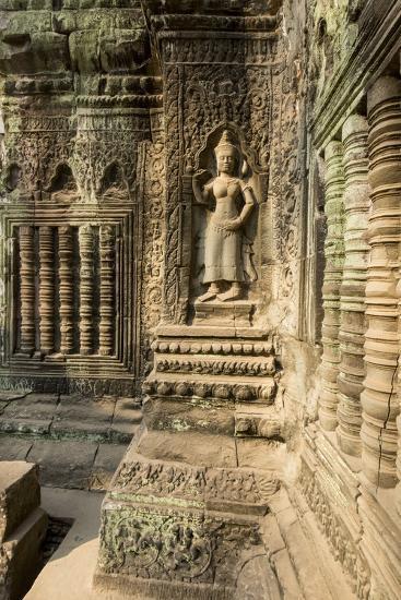Stone Carvings of Apsara at Angkor Wat, Cambodia-Paul Souders-Photographic Print
