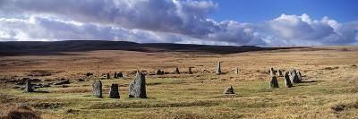 Stone Circle on a Hill, Scorhill Stone Circle, Dartmoor, Devon, England--Photographic Print