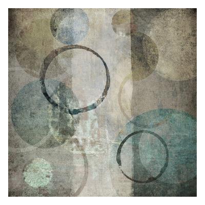 Stone Circles Blue 3-Kristin Emery-Art Print