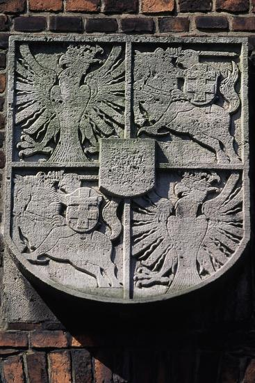 Stone Coat of Arms on Wawel Castle--Giclee Print