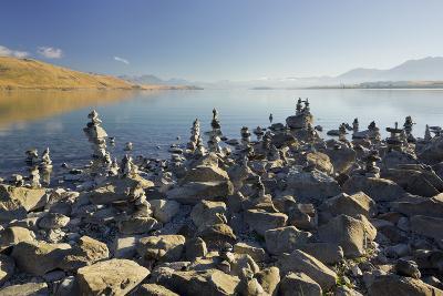 Stone Dwarves at the Shore of the Lake Tekapo, Canterbury, South Island, New Zealand-Rainer Mirau-Photographic Print