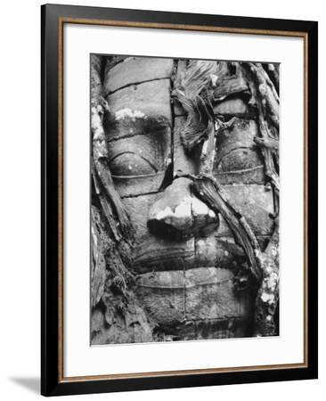 Stone Face of the Ta Som Temple in Angkor in Cambodia--Framed Photographic Print