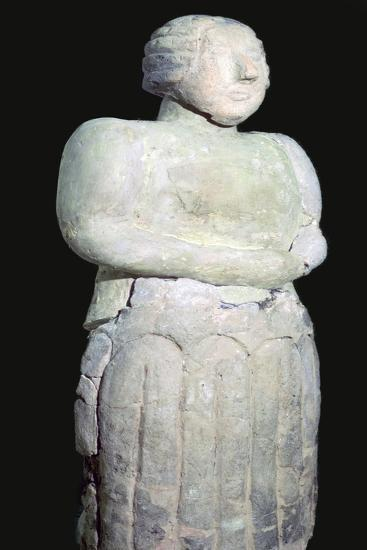 Stone female figure from the Tarxien temples. 31st century BC. Artist: Unknown-Unknown-Giclee Print