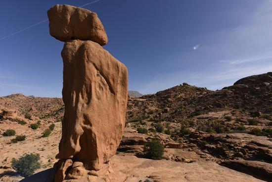 Stone formation around village of Tafraoute, Morocco, North Africa, Africa-Michal Szafarczyk-Photographic Print