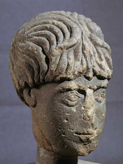 Stone head of Antenociticus, 2nd century BC. Artist: Unknown-Unknown-Giclee Print