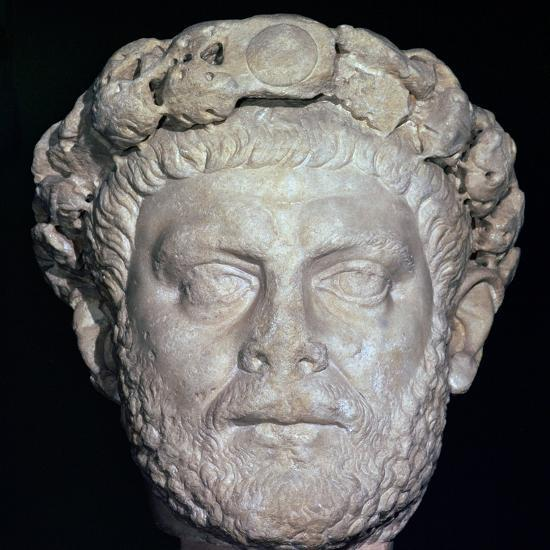 Stone head of Diocletian, 3rd century. Artist: Unknown-Unknown-Giclee Print