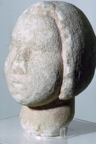 Stone head of 'Fat Lady'. Artist: Unknown-Unknown-Giclee Print