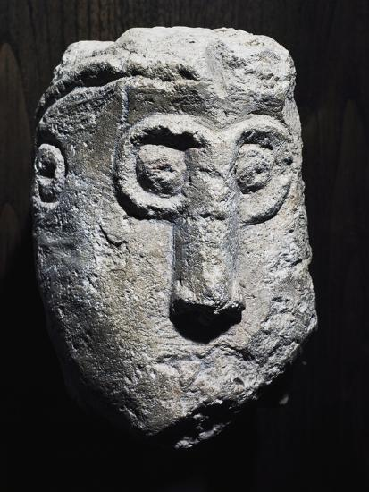 Stone Head with Gorgon Shape, Picenum Culture--Giclee Print
