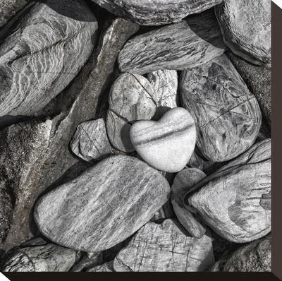 Stone Heart 2 - Square-Lebens Art-Stretched Canvas Print