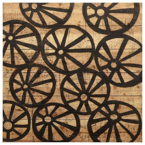 """Stone IV"" Arte de Legno Digital Print on Solid Wood Wall Art--Alternative Wall Decor"