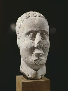 Stone Male Head from Entremont
