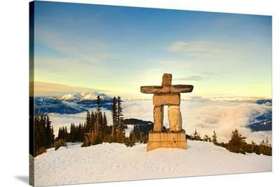 Stone Man on Mount Whistler--Stretched Canvas Print