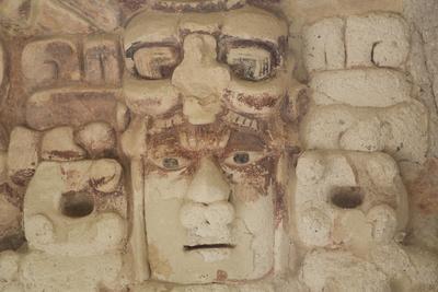 Stone Mask of Mayan Sun God Kinichna-Richard Maschmeyer-Photographic Print