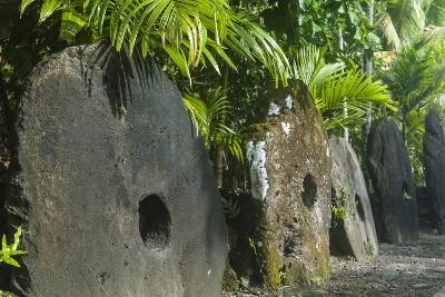 Stone Money on the Island of Yap, Federated States of Micronesia, Caroline Islands, Pacific-Michael Runkel-Photographic Print