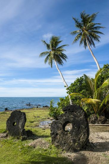 Stone Money on the Island of Yap, Micronesia-Michael Runkel-Photographic Print