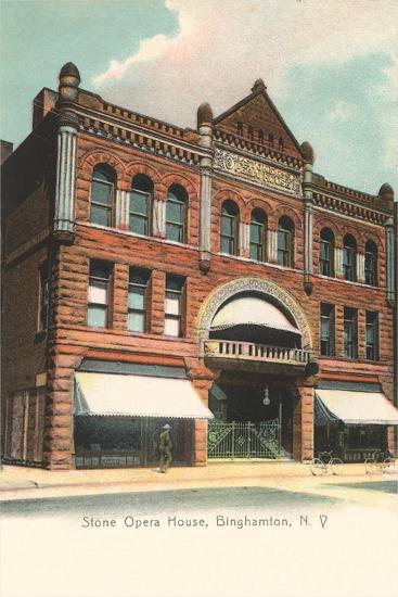 Stone Opera House, Binghamtom--Art Print
