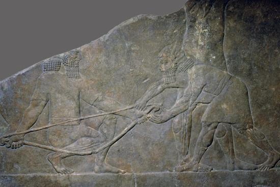 Stone panel from the North Palace of Ashurbanipal, Nineveh, northern Iraq, Neo-Assyrian, c645 BC-Unknown-Giclee Print