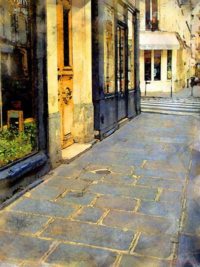 Stone Pavement in Paris, France-Nicolas Hugo-Giclee Print