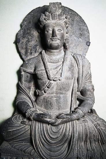 Stone Sculpture Depicting Buddha Gandhara Art Peshawar Pakistan Giclee Print Art Com
