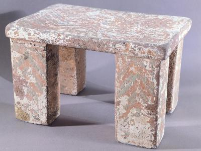 Stone Seat Covered with Painted Stucco--Giclee Print